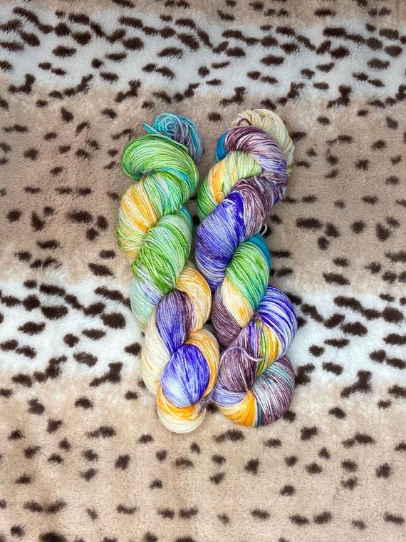 Hand Dyed Yarn   Sock Yarn   Flower Power   Superwash Yarn    Fingering Weight Yarn   Merino Wool Yarn   Variegated Yarn
