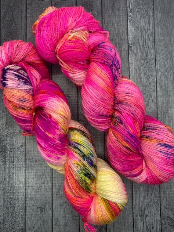 Hand Dyed Yarn.  Sock Yarn. Girl Gang. Superwash Yarn. Speckled Yarn.