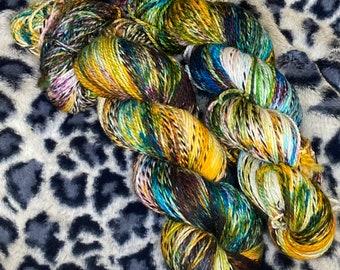 Hand Dyed Yarn |  Sock Yarn | Zebra Yarn | Superwash Yarn | OOAK | Fingering weight yarn | Merino Wool Yarn | Nylon Yarn