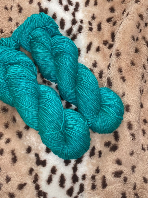 Hand Dyed Yarn |  Sock Yarn | Malachite | Superwash Yarn | Semisolid Yarn | Fingering weight yarn | Merino Wool Yarn | Nylon Yarn