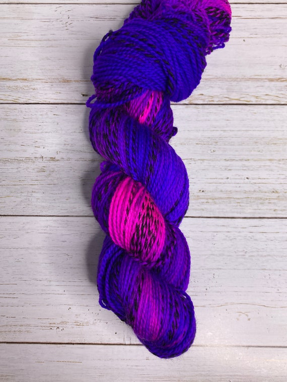 Hand Dyed Yarn |  Sock Yarn | Zebra Yarn | Superwash Yarn | Violet Sky | Fingering weight yarn | Merino Wool Yarn | Nylon Yarn