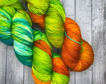 Hand Dyed Yarn. Speckled Yarn. Halloween Yarn. The Simpsons Treehouse of Horror Yarn Collection. Sock Yarn. Superwash Yarn.