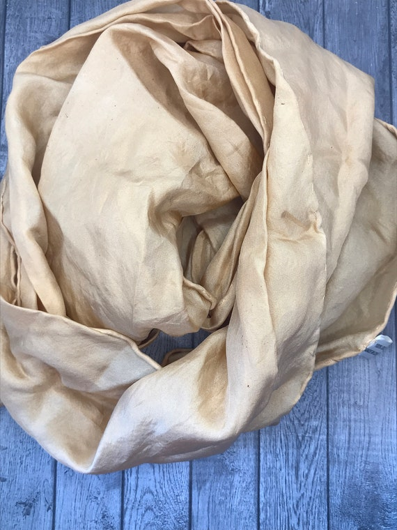 100% Silk Scarf. Hand Dyed. Naturally Dyed. Avocado Dyed. Fashion Accessory. Gift Giving. Unique Gift