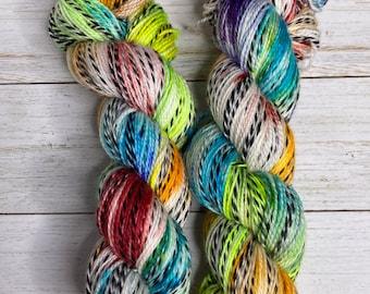 Hand Dyed Yarn |  Sock Yarn | Zebra Yarn | Superwash Yarn | Color Outside the Lines | Fingering weight yarn | Merino Wool Yarn | Nylon Yarn