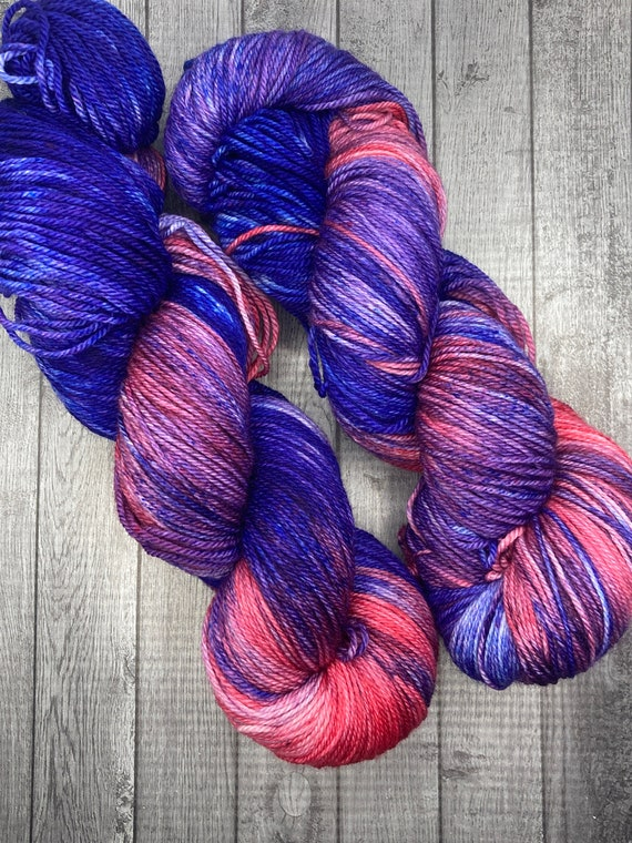 Hand Dyed Yarn. Sock Yarn. Material Girl. 80s Mix Tape Collection. Superwash Yarn. Speckled Yarn. Fingering Weight