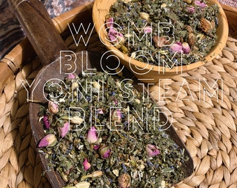 YONI STEAM Womb Bloom Herbal Blend organic herbs Vaginal Steam 1 oz ounce for fertility support