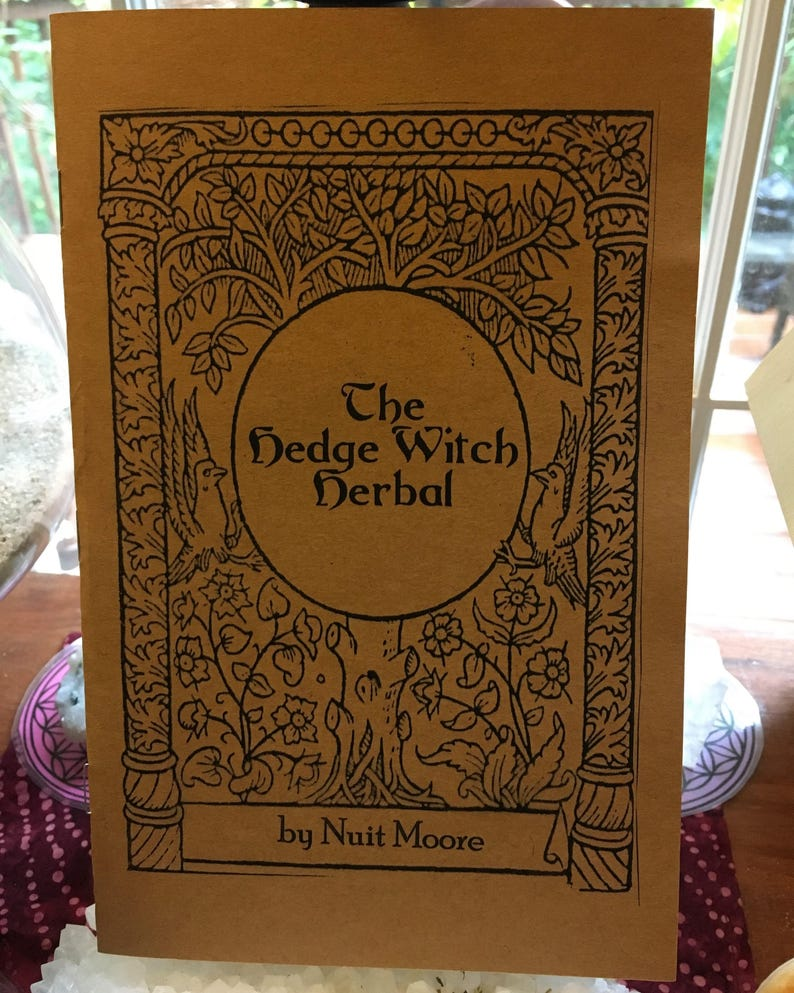 THE HEDGEWITCH HERBAL Booklet Hedge Witch medicinal and image 0