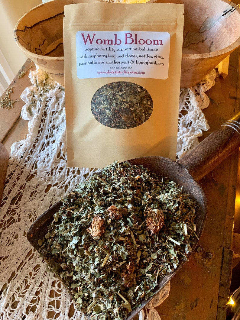 WOMB BLOOM Herbal Tea fertility support blend one ounce 1 oz image 0