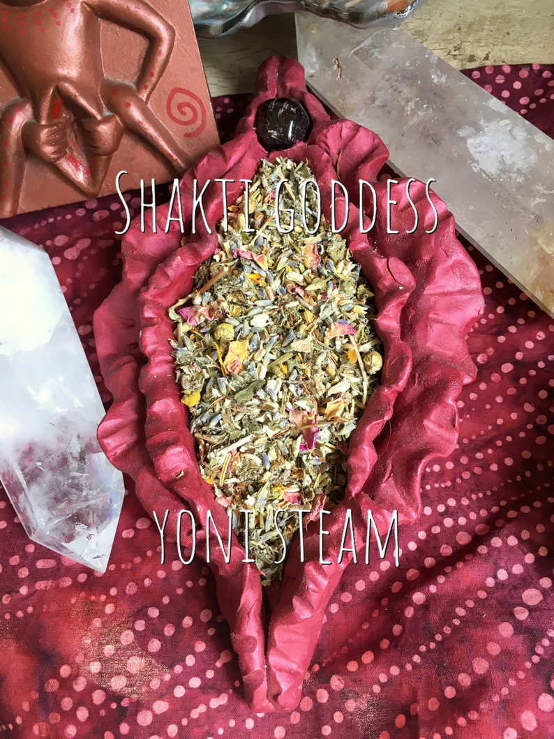 504c61017a7b5 YONI STEAM Shakti Goddess 13th Moon Herbal Blend organic herbs Bajos  Vaginal Steam 1 oz one ounce for the perimenopause menopause journey