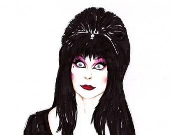 "Elvira Mistress of the Dark 8"" x 10"" Print"