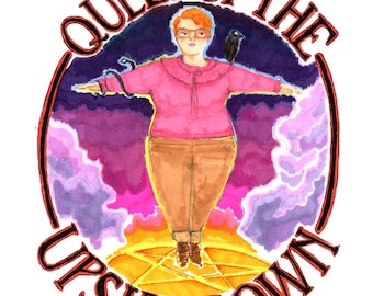 "Barb Queen of the Upside Down Stranger Things White 8"" x 10"" Print"