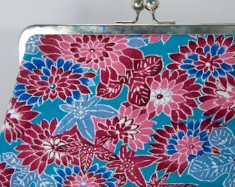 Woman's Clutch Handbags Handmade from Vintage Japanese Kimono Silk