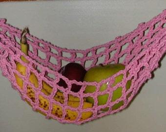 Rosy Pink Banana Hammock, Fruit Hanger, Holder, Net
