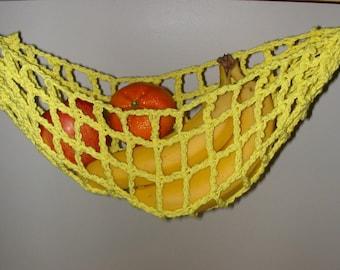 Bright Yellow Banana Hammock, Fruit Hanger, Holder, Net