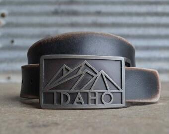 Idaho Mountain Belt Buckle- by FosterWeld