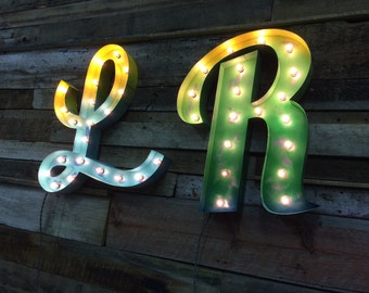 Retro Marquee Lighted Letter by FosterWeld