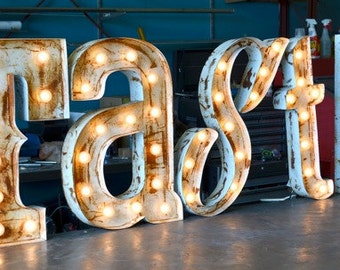 Retro Marquee Letter SET by FosterWeld