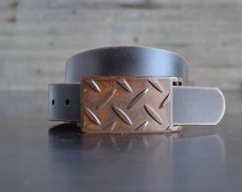 Tread Plate Belt Buckle by Fosterweld