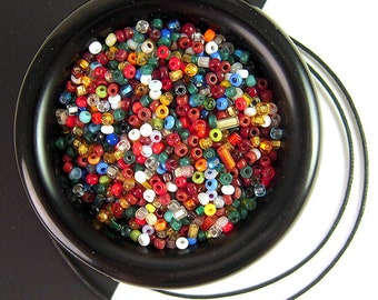 RARE Dark Luster Rose Antique Italian Seed Beads 3.1mm CV196 Iridescent Dark Pink Glass Seed Beads for Embroidery /& Jewelry Making