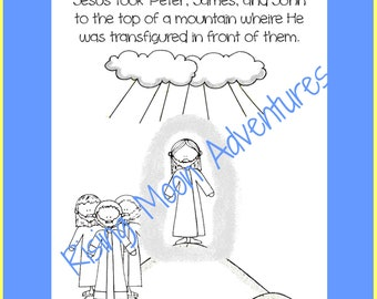 Jesus Calmed a Storm Coloring Page Download | Etsy