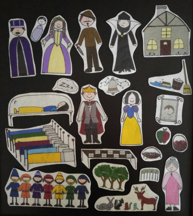 Snow White Flannel Board Stories Felt Set with Story Card