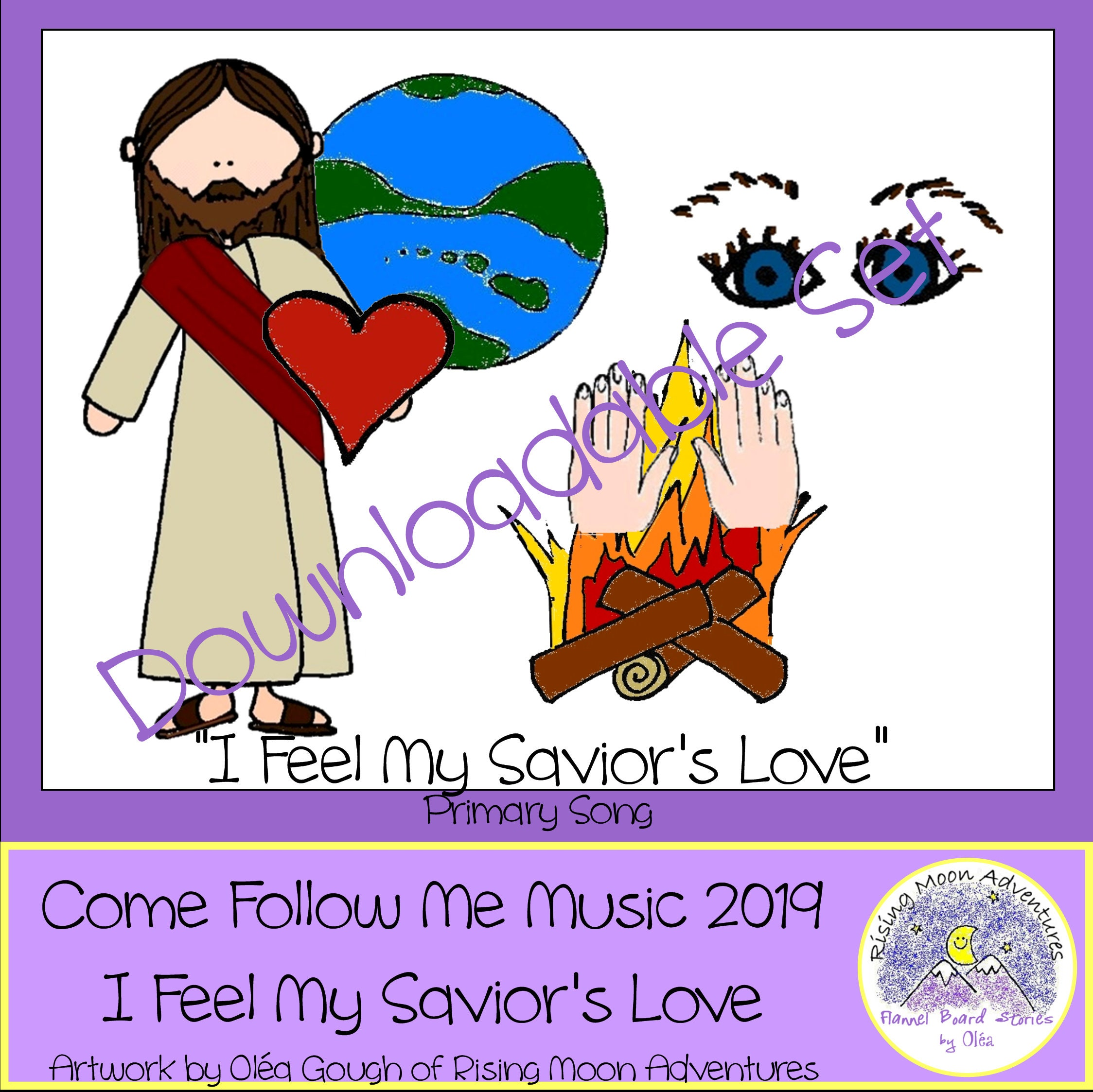 Come Follow Me Music 2019 Primary Song I Feel My Savior's | Etsy