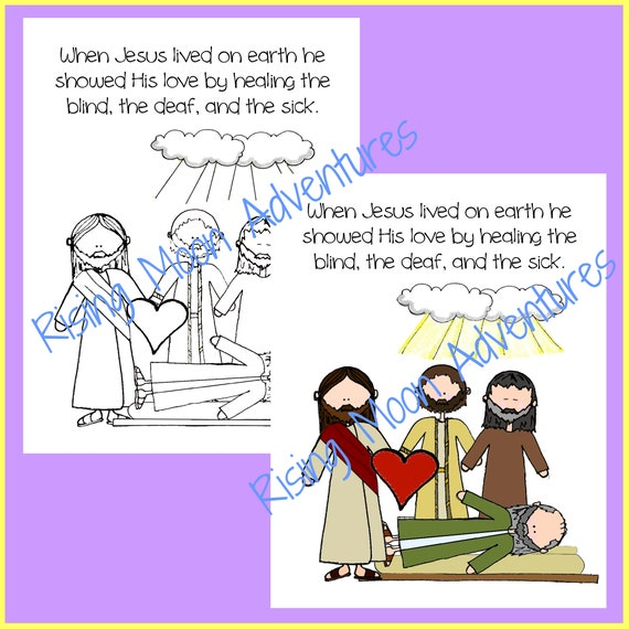 People Healed By Jesus Coloring Page | 570x570