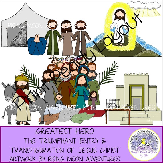 Triumphant Entry and Transfiguration of Jesus Christ Pages Download with 2  Stories