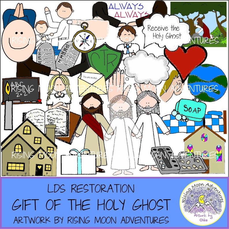 LDS Gift of the Holy Ghost Download with story - Baptism Talk, Preparation,  or Family Home Evening