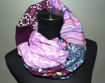 Custom Order - You Design - Lined Patchwork Endless Cotton Scarf