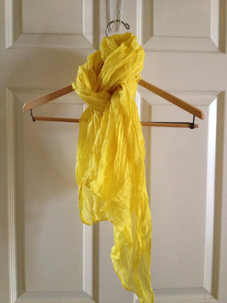 Yellow crinkly scarf sarong image 0