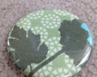 Island Girl Bags - Fabric Covered Pocket Mirror 2.25 inches in Joel Dewberry