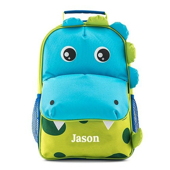 Personalized Dinosaur Back Pack Travel Backpack Boys Back Pack Back To School Day Care Backpack Birthday Boy Pre-School Back Pack