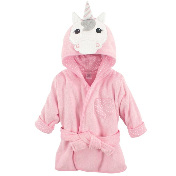 Personalized Baby Girl Unicorn Hooded Robe Custom Baby Girl  8422b5768