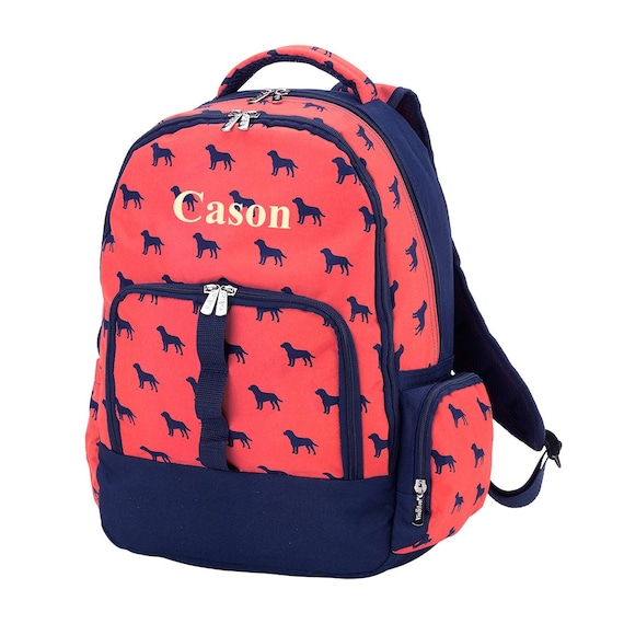 bdfd499d6a Personalized Boys Backpack Monogrammed Dog Days Backpack