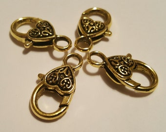 25 2221 Lobster Clasp 14Kt Gold Filled 11.7mm with Open Jump ring 50pcs Wholesale price