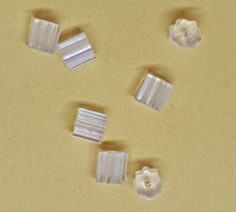 Clear Plastic Earnuts Earrings Backs - Ridged Style Plastic Earnuts Earring Rubber Stops Earring Earnuts 100 Pcs