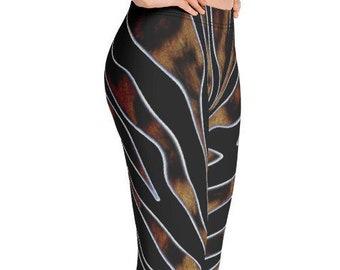 abe91612b99b72 Tiger Leopard Print Yoga Pants Leggings