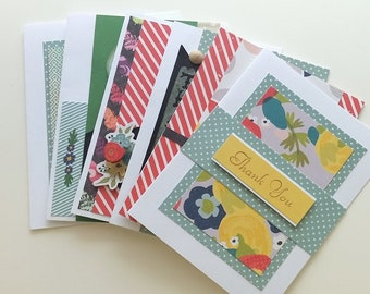 Handmade Card Sale /  10 cards for 20/ FREE SHIPPING / Full size no duplicates / Free Custom Message