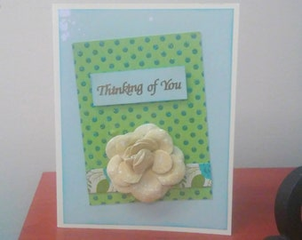 Thinking of You Handmade Card / Sympathy Card / Get Well Card / Encouragement Card / Blank Note card / Creative Designs