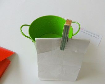Paper Lunch Bags White Small Size Food Safe