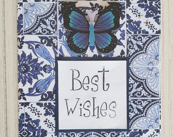 Best Wishes Card, Blank inside with Personalized Message Option, wedding card, graduation card,anniversary card