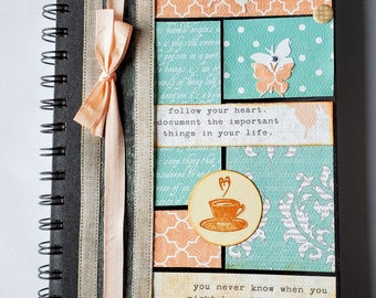 Journal, Diary, Altered Notebook, Sketchbook, Recipe Book