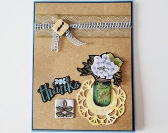 Thank you card, Personalized card Message,Creative Designs by Della