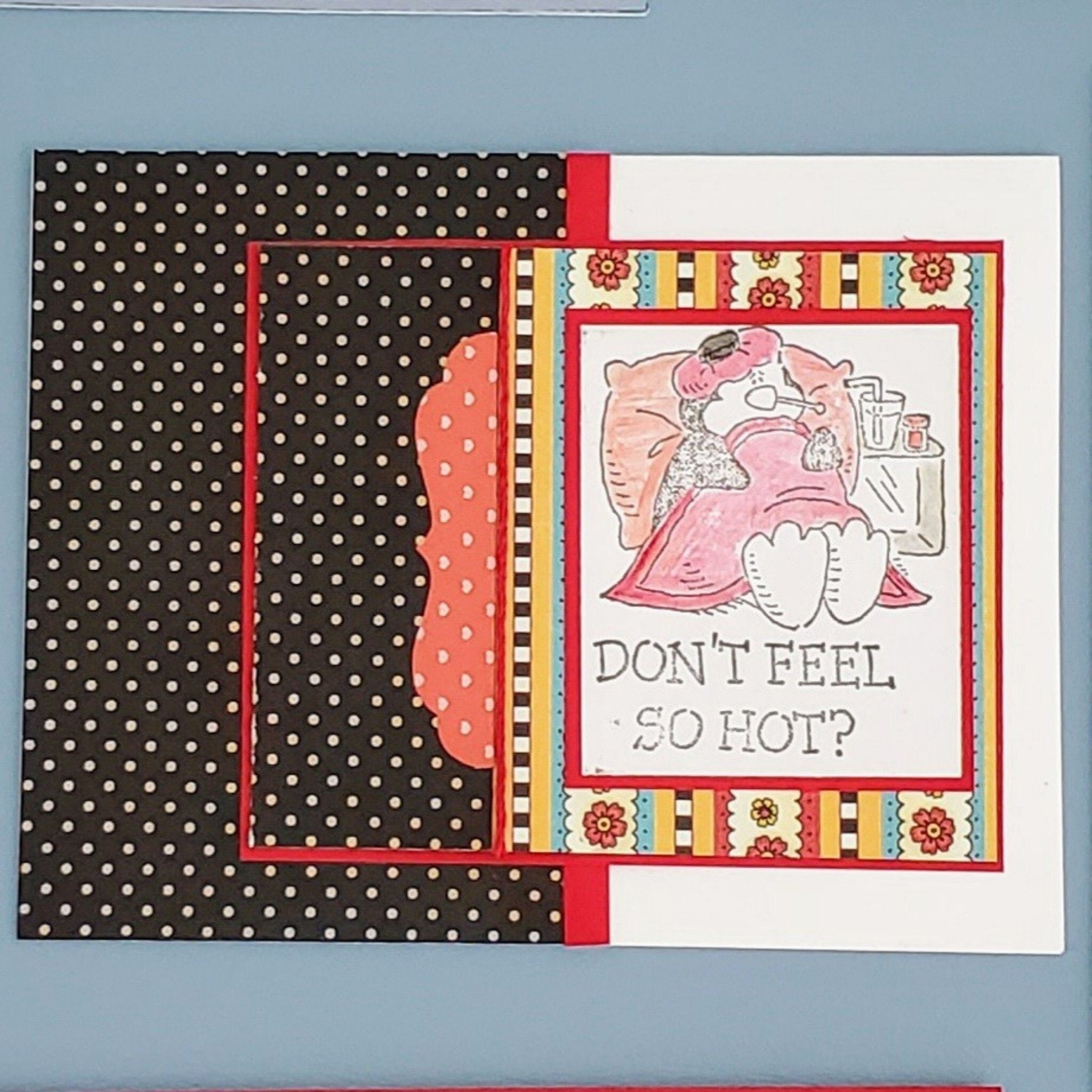 Get Well card,  hand stamped retired Stampin Up stamp, Personalized Message option