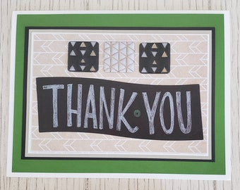 Thank you card, Chalkboard typography, Appreciation card, Personalized card Message,Creative Designs by Della