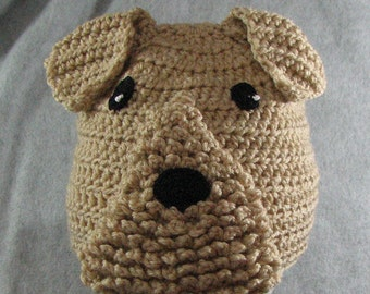 Crochet Pattern - Airedale Hat - Animal Hat Pattern - Dog Theme Gifts - Dad Hat - Woman's Hat - Dog Lovers Gift - PDF - Digital Download