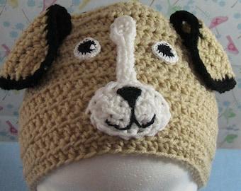 Beagle - Crochet Hat Pattern -Animal Hat - Dad Hat - Women's Hat - Dog Lover Gift - Beagle Lover Gift - PDF - Digital Download