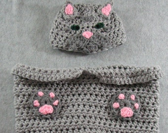 Baby Crochet Pattern - Tabby Cat Baby Cocoon Crochet Pattern - Baby Sleep Bag or Sac Pattern - Pajama Pattern - Digital Download