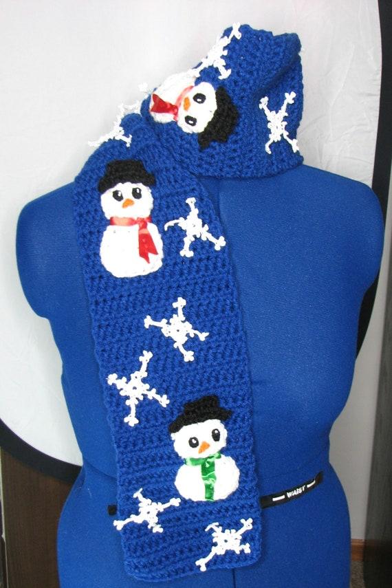 Dancing Snowman Scarf Crochet Pattern Digital Download Etsy